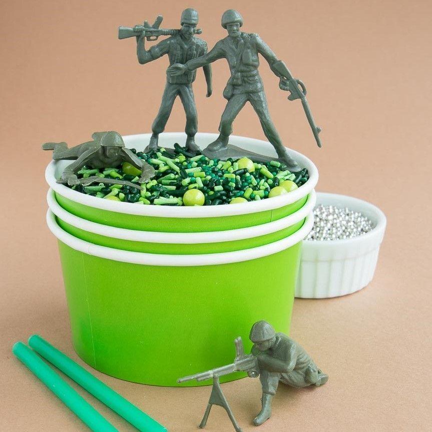 Solid Color Ice Cream Cups- Camo Party Supplies