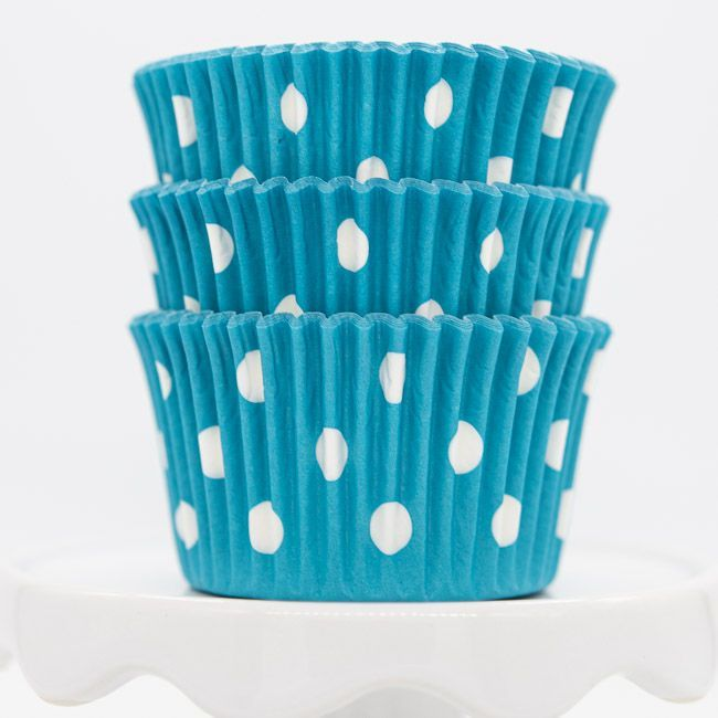 Dot Aqua Cupcake Liners | Aqua Blue Baking Cups - Polka Dot Cupcake Cups
