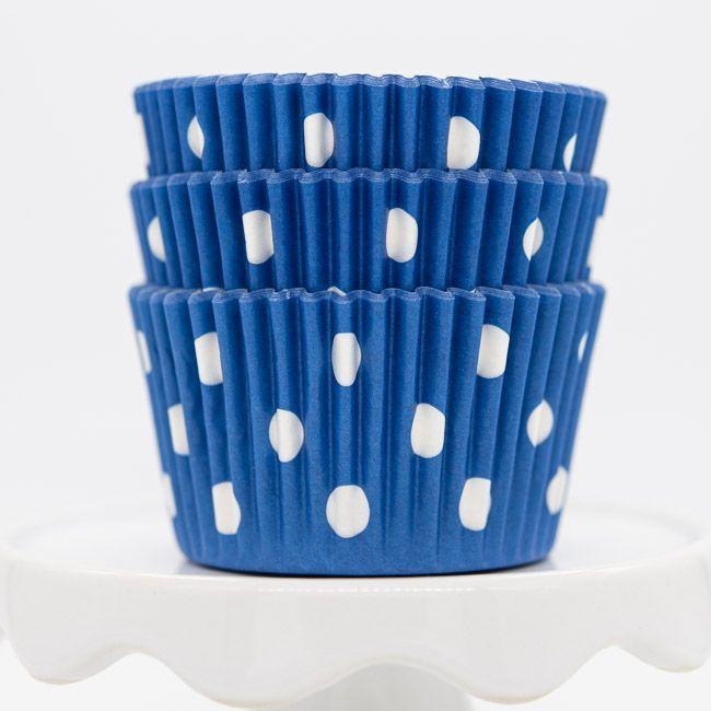 Dot Blue Cupcake Liners   Blue Dot Baking Cups - Polka Dot Cupcake Cups