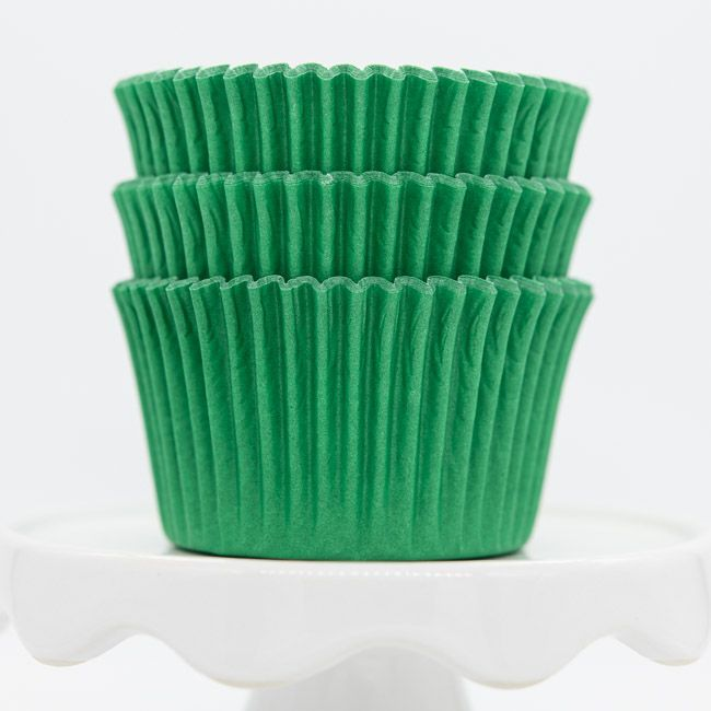 Green Cupcake Liners | Bulk Green Baking Cups - Solid Color Cupcake Cups