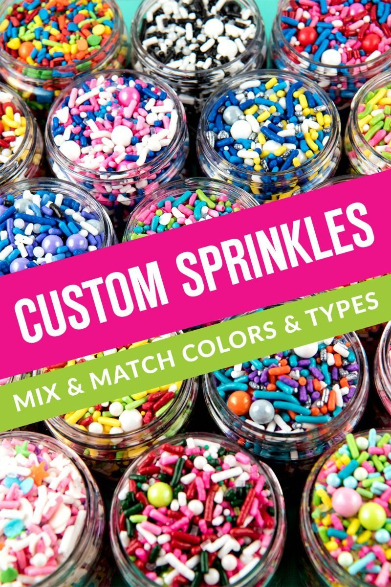 Custom Sprinkles | Sweets & Treats Makes Custom Sprinkle Mixes Just For You - Always Made From Edible Sprinkles, Bulk medleys Available