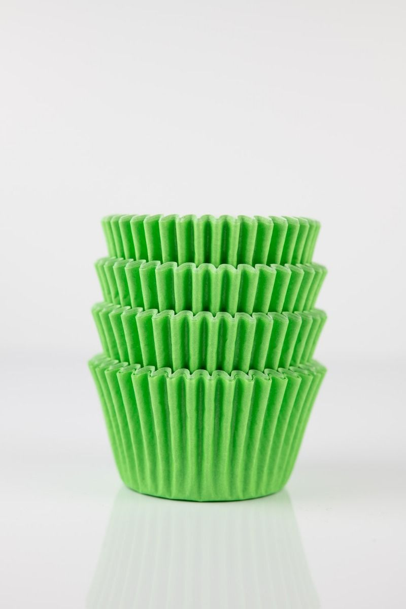 Lime Green Mini Cupcake Liners | Lime Midi Baking Cups, Greaseproof Wrappers Bulk