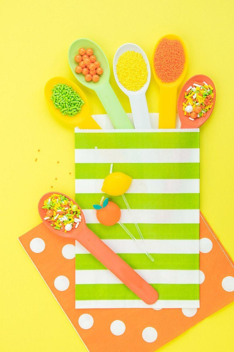 Sherbert Sprinkles Mix | Orange, Lime Green, and Yellow Sprinkle Medley, Edible Blend