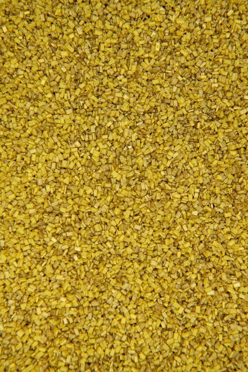 Gold Sugar Crystals Sprinkles | Gold Chunky, Sparkling Sugars