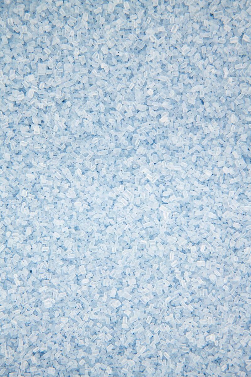 Light Blue Sugar Crystals Sprinkles   Pastel Blue Chunky, Sparkling Sugars