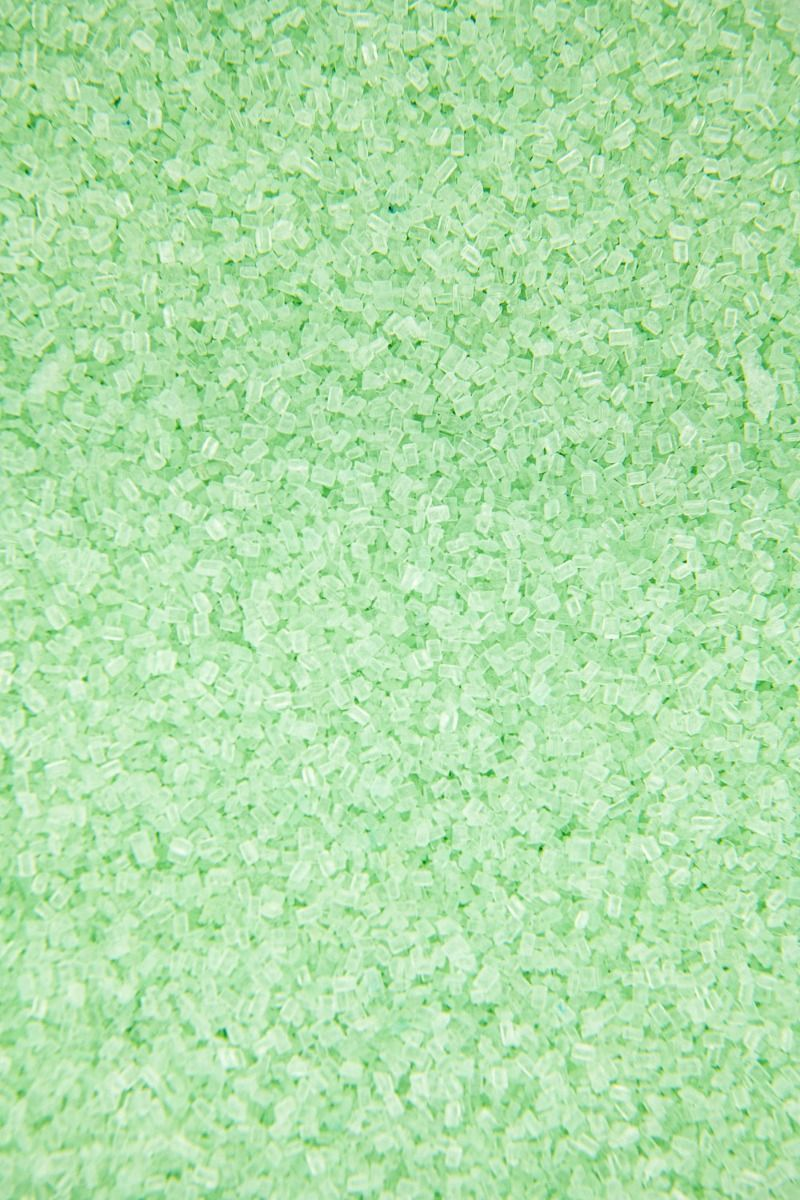 Mint Sugar Crystals Sprinkles | Light Green Chunky, Sparkling Sugars