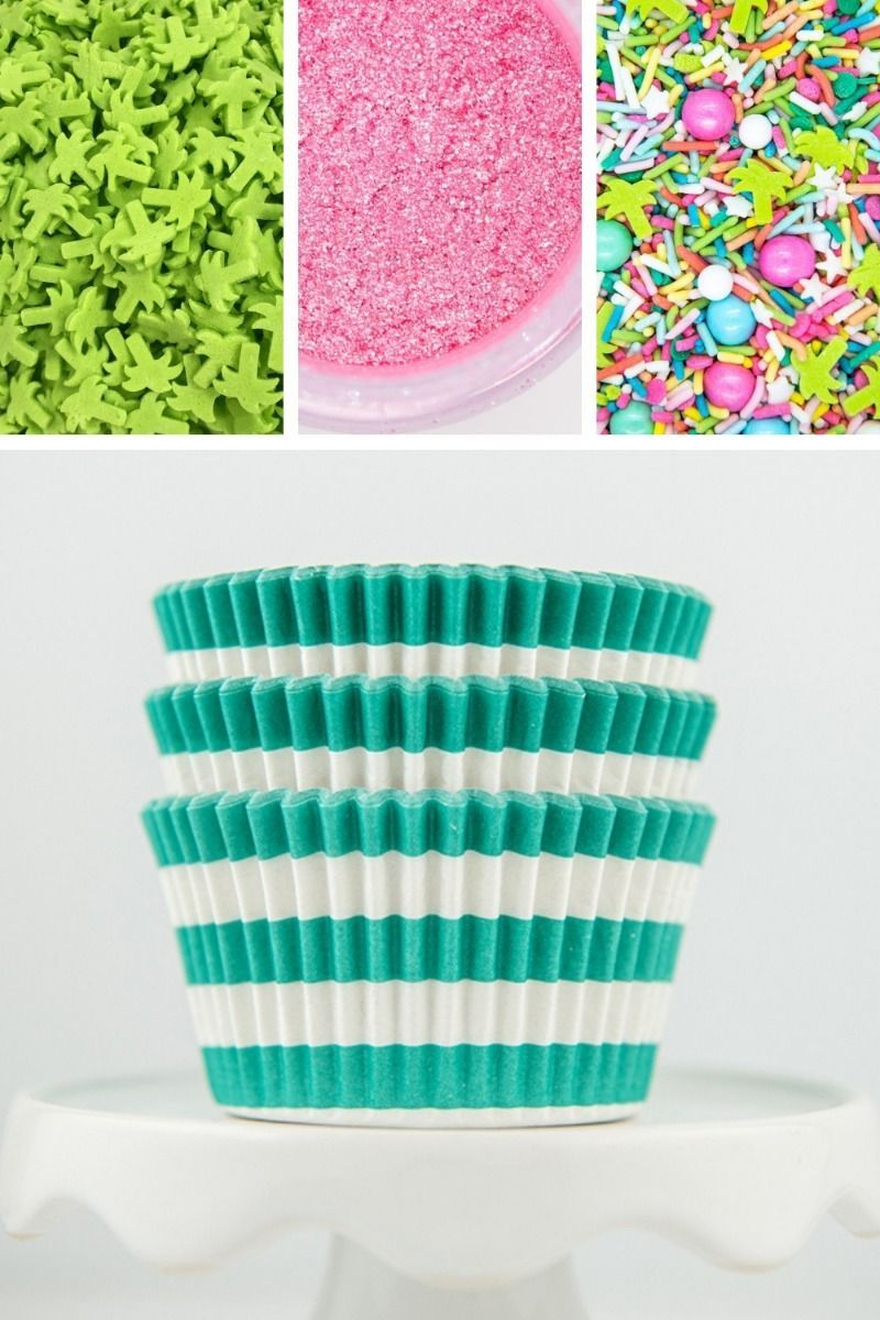 Summer Cupcake Decorating Kit, DIY Cupcake Kit