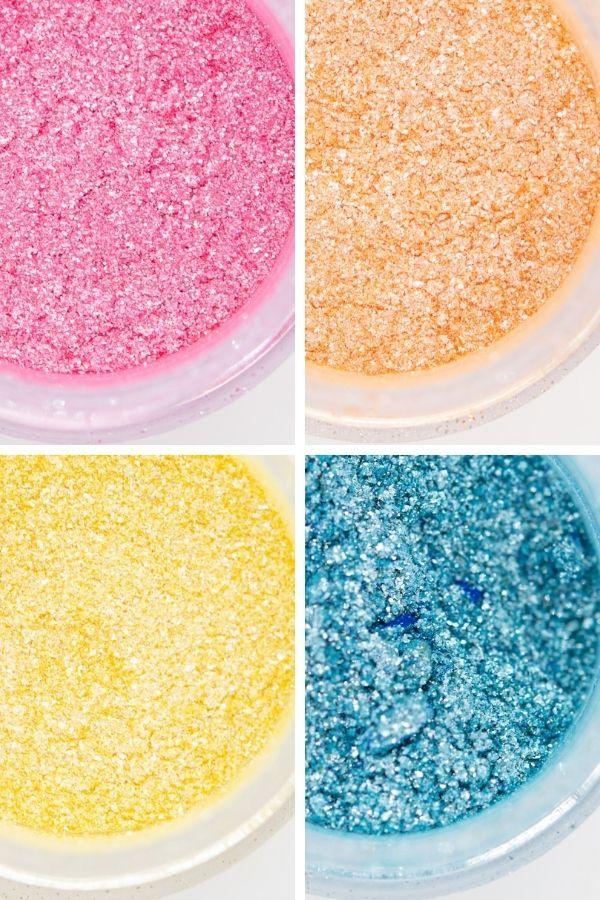 Summer Edible Glitter Set  Beach Luxe Edible Glitter for Drinks & Cakes