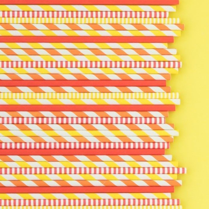 Thanksgiving Paper Straws- Red Paper Straws