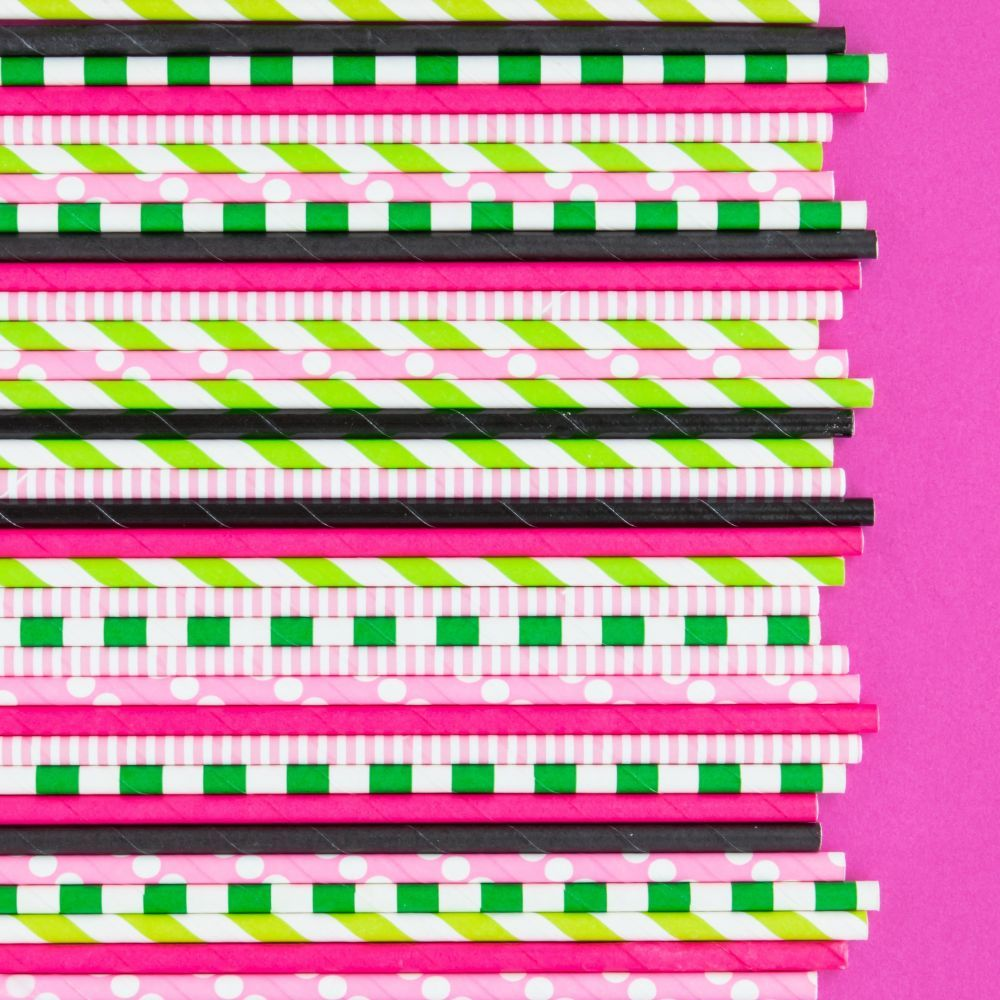 Solid Black Paper Straws- Solid Colored Paper Straws