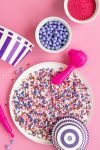 Doc McStuffins Party Sprinkle Mix | Pink and Purple Sprinkle Medley, Edible Blend