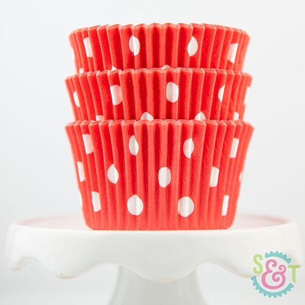 Dot Cupcake Liners: Coral