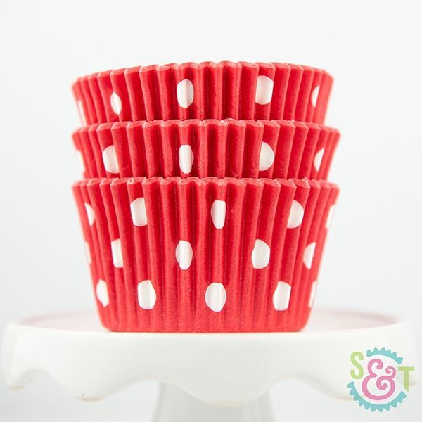 Dot Cupcake Liners: Red