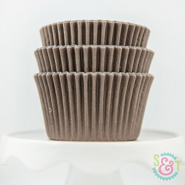 Solid Cupcake Liners: Brown
