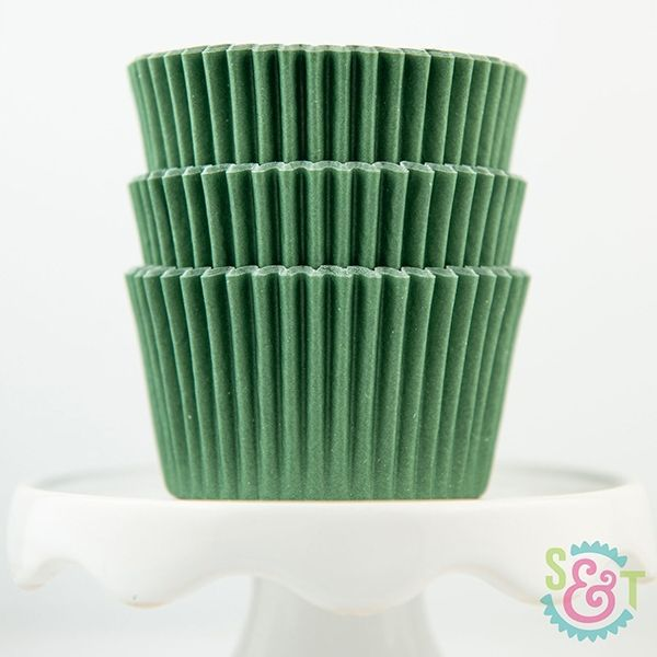 Solid Cupcake Liners: Forest