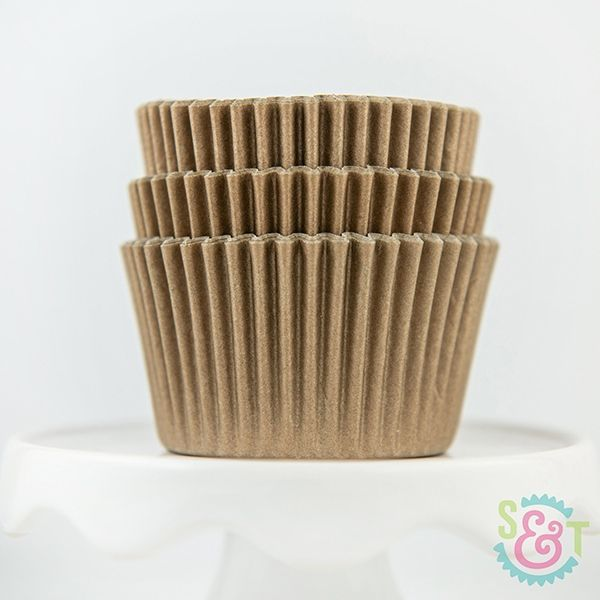 Solid Cupcake Liners: Gold