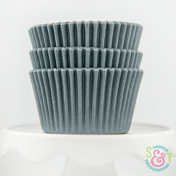 Solid Cupcake Liners: Gray