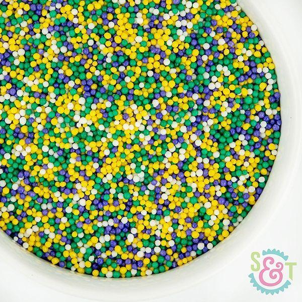 Sprinkles Mix: Mardi Gras Nonpareils
