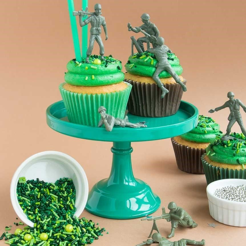 Camo Sprinkles Mix- Camouflage Cupcakes
