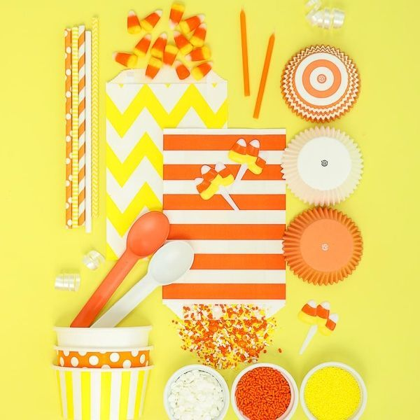Candy Corn Party Ideas - Style Board