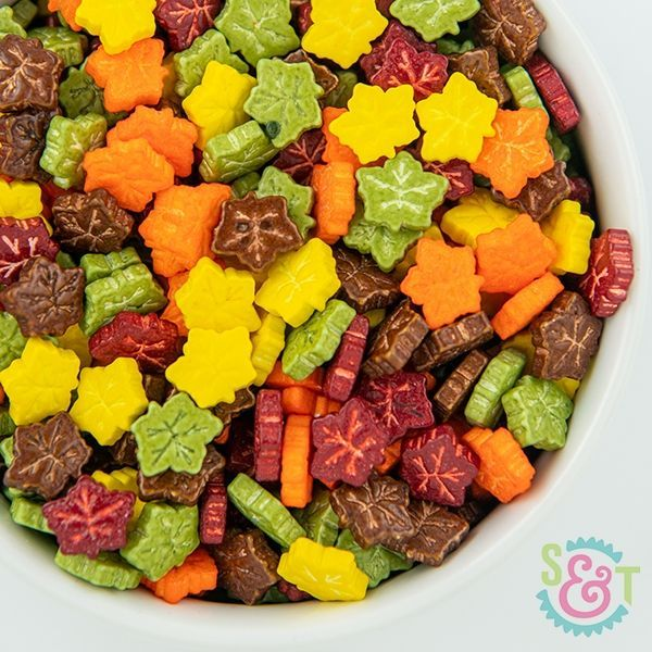 Candy Sprinkles: Fall Leaves