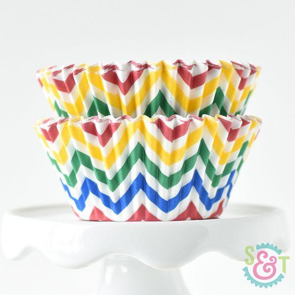Chevron Cupcake Liners: Circus