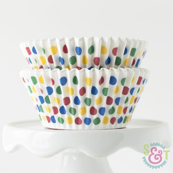 Dot Cupcake Liners: Circus