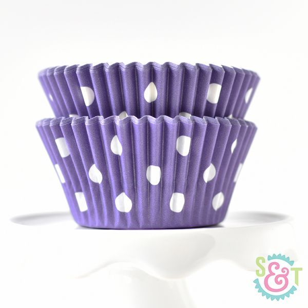 Dot Cupcake Liners: Purple