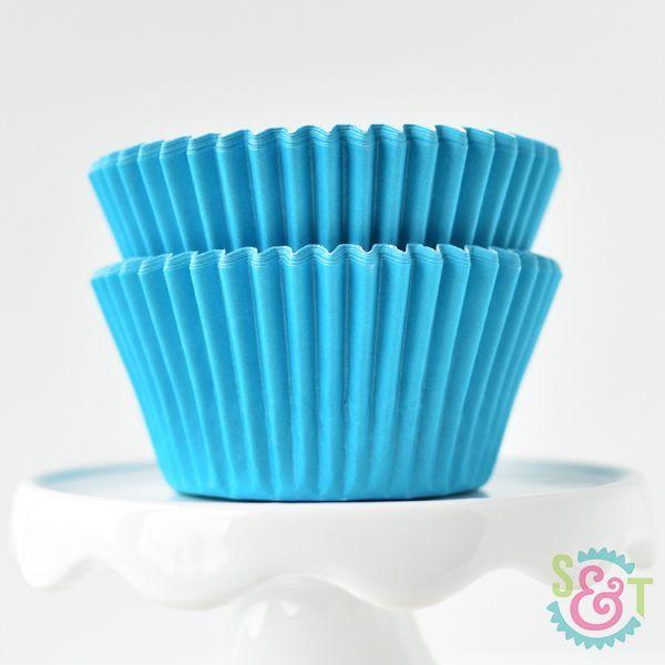 Solid Cupcake Liners: Aqua