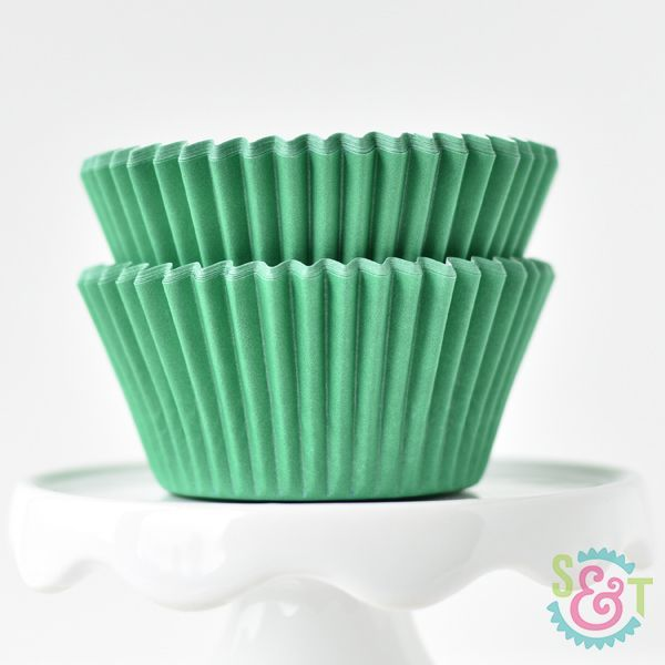 Solid Cupcake Liners: Green