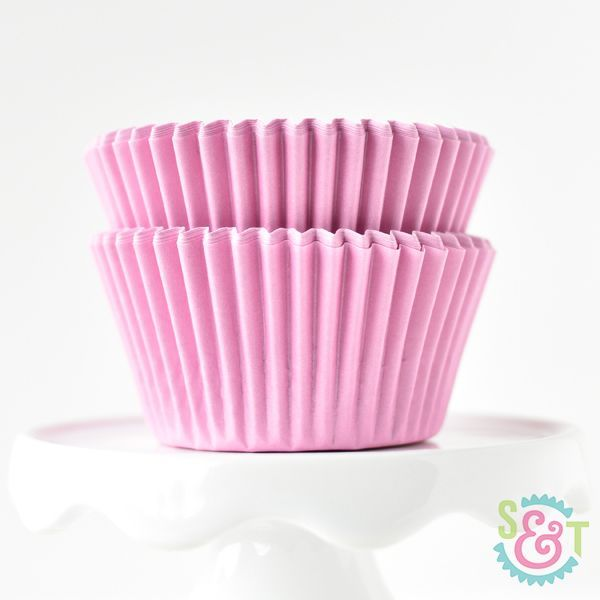 Solid Cupcake Liners: Light Pink