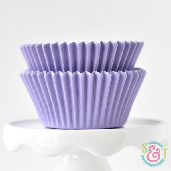 Solid Cupcake Liners: Light Purple