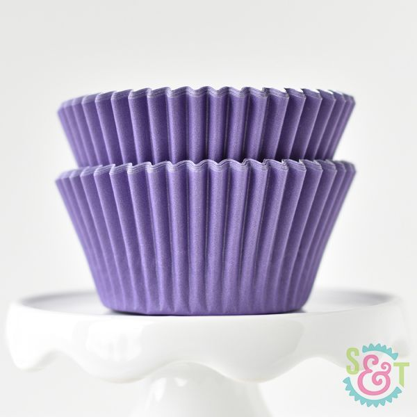 Solid Cupcake Liners: Purple
