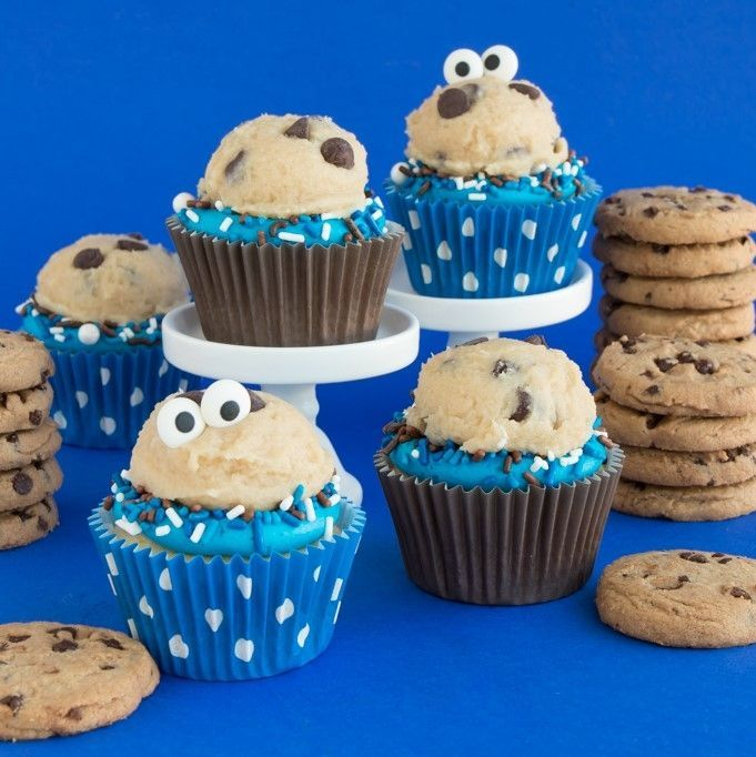 Polka Dot Blue Cupcake Liners- Cookie Jar Party Cupcake Liners- Blue Baking Cups