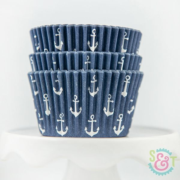 Anchor Cupcake Liners: Navy