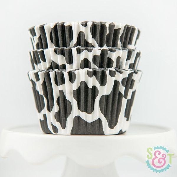 Animal Cupcake Liners: Cow Print