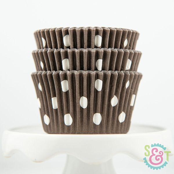 Dot Cupcake Liners: Brown