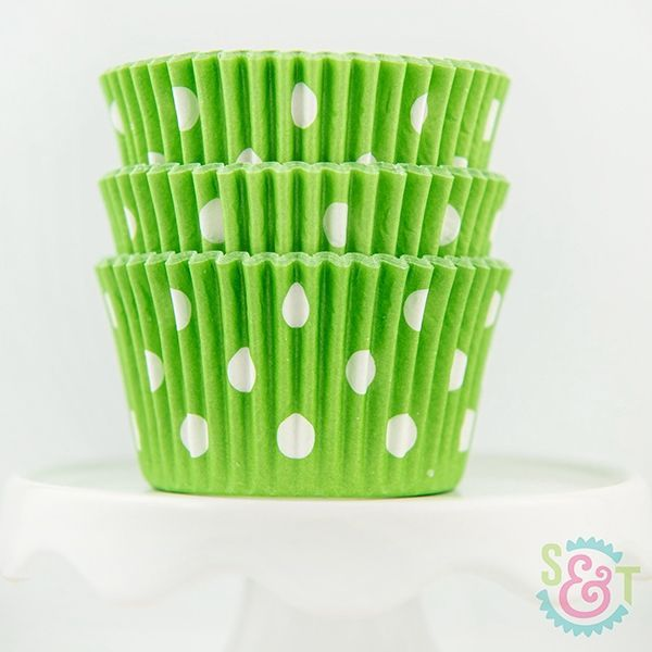 Dot Cupcake Liners: Lime Green
