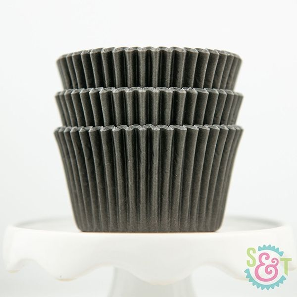 Solid Cupcake Liners: Black