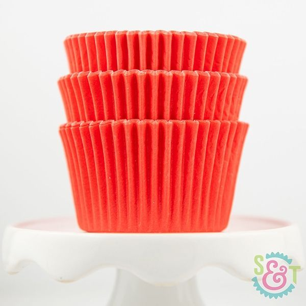 Solid Cupcake Liners: Coral