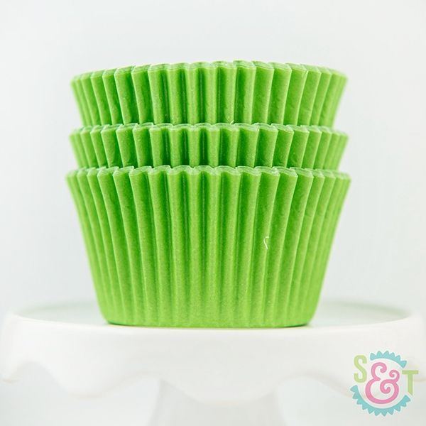 Solid Cupcake Liners: Lime Green