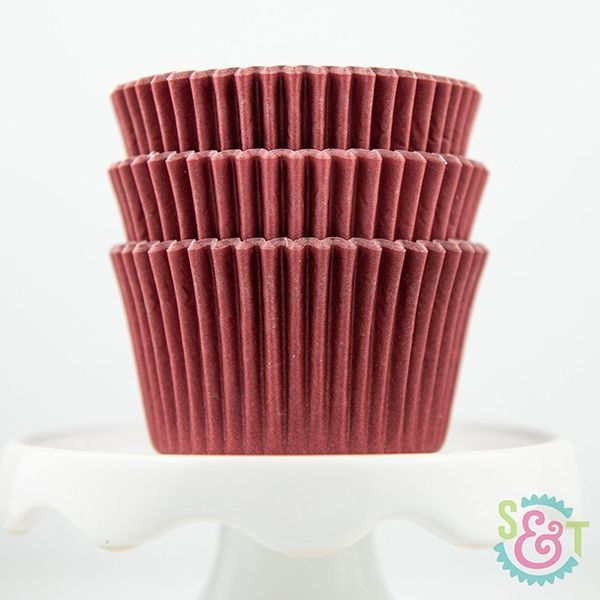 Solid Cupcake Liners: Maroon