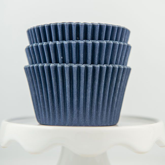 Solid Navy Cupcake Liners - Navy Blue Baking Cups - Solid Color Cupcake Cups