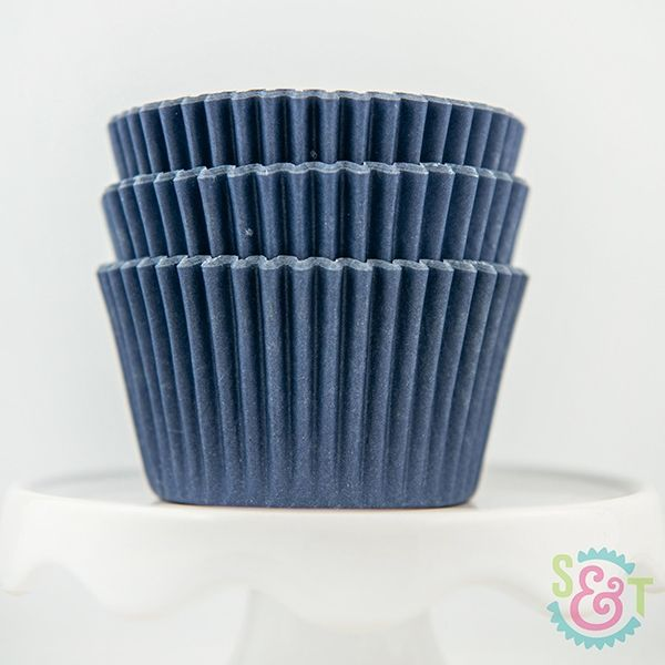 Solid Cupcake Liners: Navy