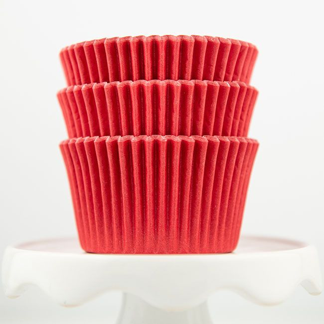 Solid Red Cupcake Liners - Red Baking Cups - Solid Color Cupcake Cups - Red Greaseproof Cupcake Liners