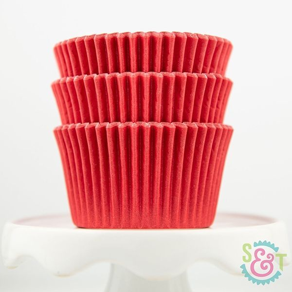 Solid Cupcake Liners: Red