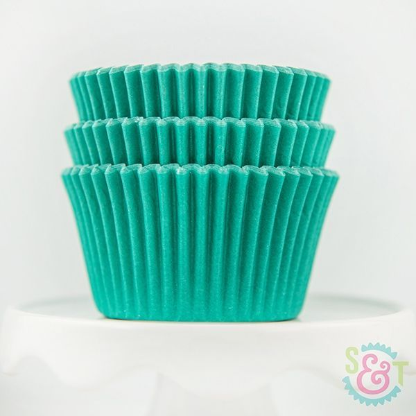 Solid Cupcake Liners: Teal