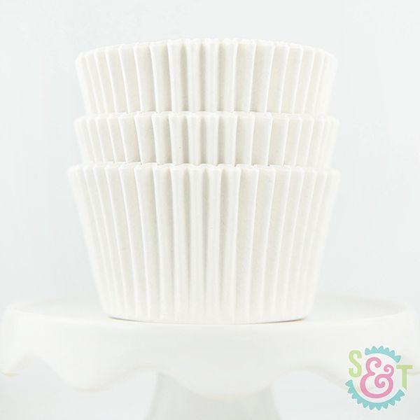 Solid Cupcake Liners: White