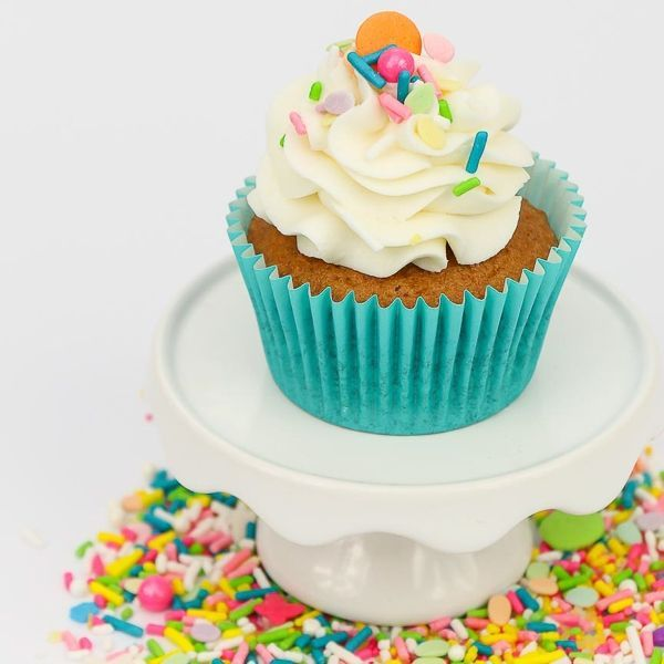 Easter Basket topped cupcakes