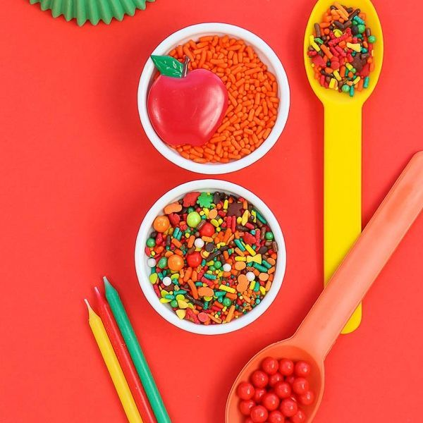Yellow, Orange Reusable Ice Cream Spoons - Fall Harvest Party Ideas